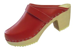 Red-High Heel-Clog